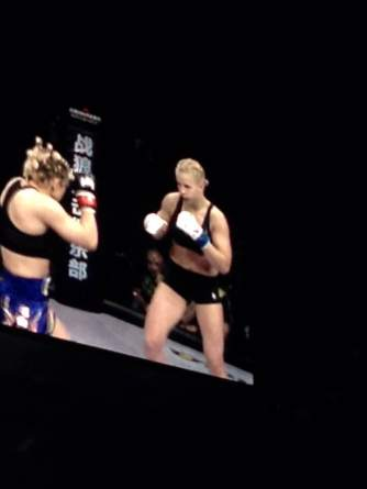 The blonde girl in all black is from Ukraine, the other girl is from Iran. HOLY SHIT the Ukrainian went HAM. She had reach and was lighting ol girl up like Holm vs Ronda, problem is, she was going TOO HAM. She threw some 12 to 6 elbows on the back of ol girls head.......a handful of times :eek: she got carded twice in less than a min and eventually lost the fights because of the point deductions
